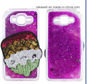 Custom Wholesale Fruit Glitter Liquid Sand Quicksand Case for Samsusng S6 Edge Plus Cell Phone Cover Case pictures & photos