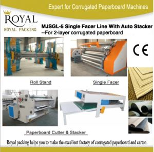 Single Facer Line with Automatic Stacker High Speed Good Quality Low Speed pictures & photos
