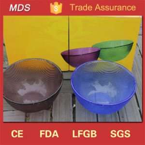 Wholesale Coloured Blue Bubble Tableware Glass Bowl for Gift pictures & photos