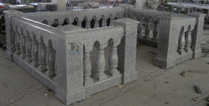 Light Grey Granite Carved Polished Stone Fence