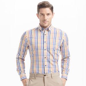 Spring Flannel Plaids Shirt Long Sleeve Casual Shirt Men Shirt pictures & photos
