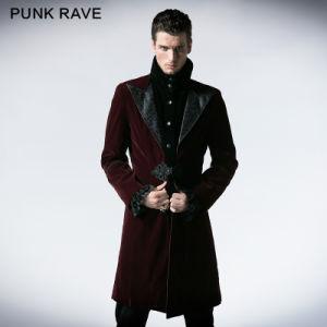 Gothic Men Duster Korea Fashion Long Coat Model (Y-377/RD) pictures & photos