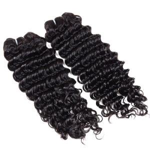 7A Virgin Hair Brazilian Deep Wave with Closure Cheap Human Hair Bundles Brazilian Virgin Hair with Closure Brazilian Deep Curly pictures & photos