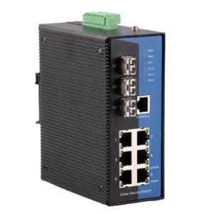 9 Port Gigabit Web-Managed Industrial Ethernet Switch (MIGE7209-3GP01)