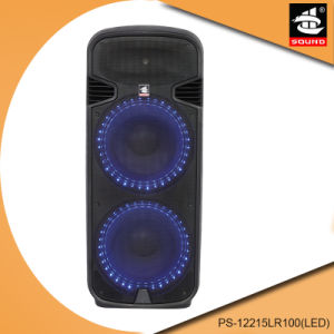 Dual 15 Inch Rechargeable Bluetooth Portable Speaker with Light PS-12215lr100 (LED) pictures & photos