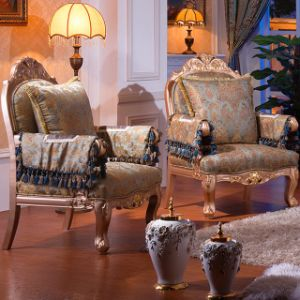 Classic Wood Sofa with Sofa Chairs for Home Furniture (962B) pictures & photos