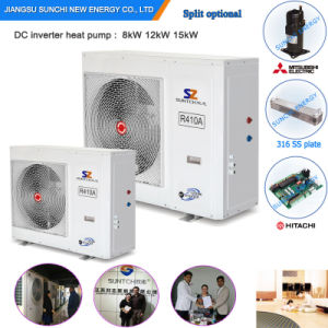 Romania -20c Winter Radiator Heating 150sq Meter House+55c Hot Water 12kw/19kw/35kw Monobloc Evi Heat Pump Air to Water System pictures & photos
