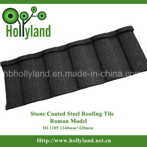 Stone Coated Metal Roofing Tile Durable Building Material (Roman Type) pictures & photos