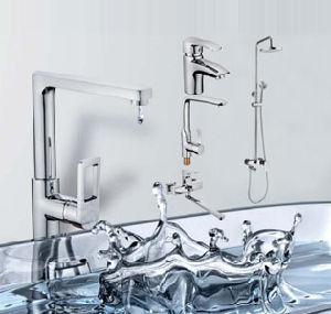 Double Hole Long Spout Bath and Shower Mixer Faucet pictures & photos