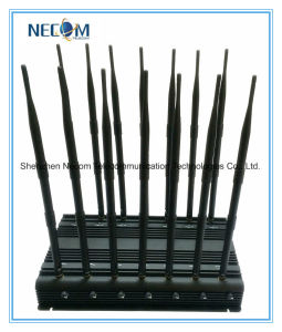 Selectable Desktop GPS Lojack 3G Cell Phone Signal Jamer, High Power Cell Phone 14 Bands Jammer for 4G Lte with Directional Antenna pictures & photos