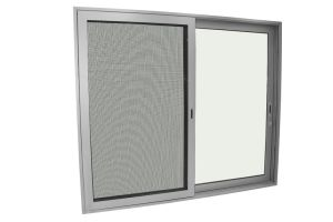 100 Series Aluminum Sliding Door with Se⪞ Urity Mesh pictures & photos