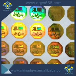 Hologram Label Sticker with Transparent Wash Aluminum Effect pictures & photos