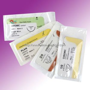 Disposable Absorbable Chromic Suture (MW209c) pictures & photos