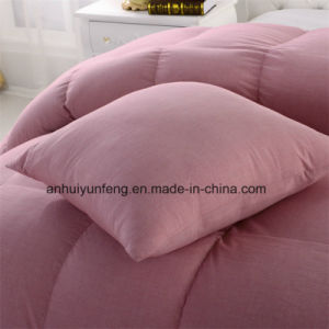 Washed Goose Feather Down Duvet Microfiber Comforter pictures & photos
