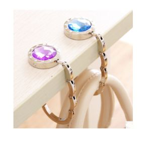 Foldable Purple Women Bag Hanger with Ring (YB-pH-13) pictures & photos