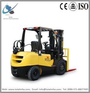 Total Forklift 3 Ton Gasoline and LPG Forklift with Japanese Nissan K25 Engine pictures & photos