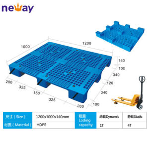Single Face 4 Way Entry Grid Nine Feet Plastic Pallets 1000*800mm pictures & photos