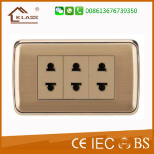Best Selling Metal Surface 2pin Socket pictures & photos