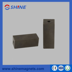 Block Shaped with Hole Phosphate Neodymium Magnet pictures & photos