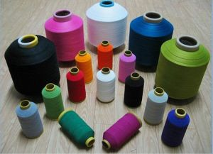 Ne 20/4 3000 Meters Per Cone White 100% Spun Polyester Sewing Thread Yarn pictures & photos