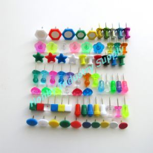 Various Designs Plastic Head Map Push Pins for Office
