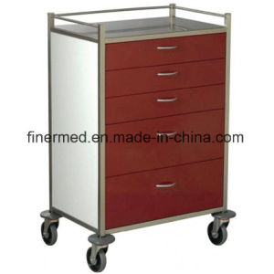 Hospital Crash Cart Medical Trolley pictures & photos