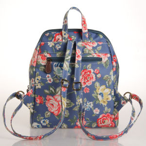 Pastoral Floral Patterns Waterproof PVC Canvas Backpack (23261) pictures & photos