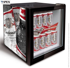 Glass Door Counter Top Bottle Drink Cooler Mini Fridge pictures & photos