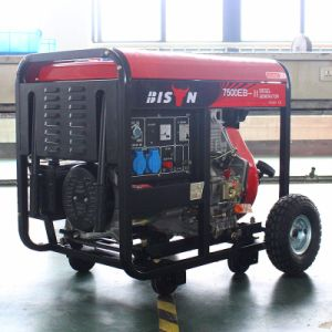 Bison (China) BS7500dce (H) 6kw 6kVA Long Run Time1 Year Warranty Diesel Generator Set Diesel Genset 6kVA Generator Diesel pictures & photos