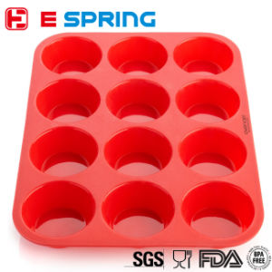 Hot Selling Eco-Friendly Muffin Cup Silicoe Baking Cake Mold Chocolate Cake Mould pictures & photos