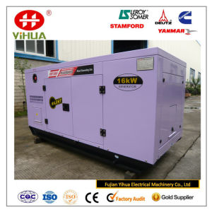 20kVA/16kw Japan Yanmar Canopy Silent Diesel Generator pictures & photos