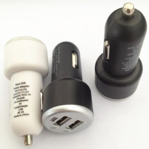New Design Ab 2 USB Port Car Charger with LED pictures & photos