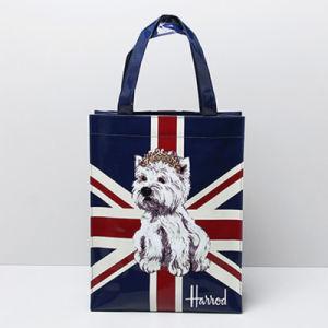 Medium Size Waterproof PVC Dog Pattern Shoulder Bag (H008-14)