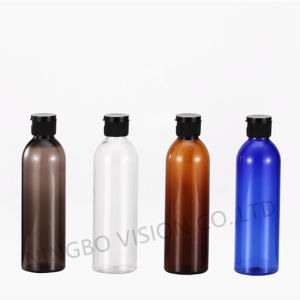 8oz Amber/Blue/Black/Clear Plastic Cosmo Bottle with Clear Nasal Pump pictures & photos