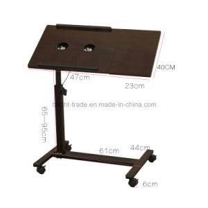 Heigth Adjustable Sit Stand Desk with Wheels pictures & photos
