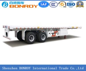 40FT 3 Axle Flatbed Container Semi Trailer for Container Use pictures & photos