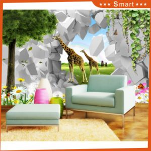 2017 New Painting Lovely Giraffe Art Oil Painting for Living Room pictures & photos