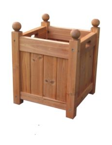 Wood Square Patio Garden Planter Bed Box Herb Plant Pot