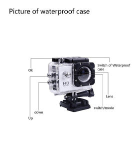 """New WiFi Action Video Camera 12MP 1080P Full HD 2"""" Display 170 View Angle 30m Water Resistant Helmet Camcorder Diving Video DVR with Mount Accessorie pictures & photos"""