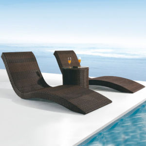 Beach Deck Chair Outdoor Garden Patio Pool Chair Furniture Rattan Wicker Lying Bed Daybed Sunbed pictures & photos