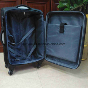 "China Manufacturer Low MOQ Portable Oxford Fabric 16"", 20"", 24"", 28"" Universal Wheels Travel Rolling Luggage Case Set, Custom Make Trolley Bag pictures & photos"