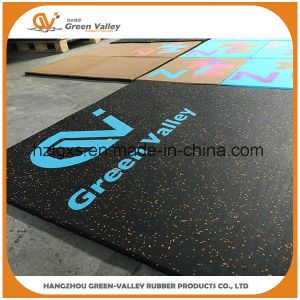 Safety 50X50cm Composite Rubber Floor Tiles Mat for Crossfit pictures & photos