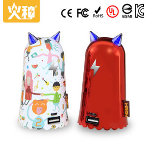 D52 Cute Design Portable Mobille Phone Power Bank with Colorful Painting