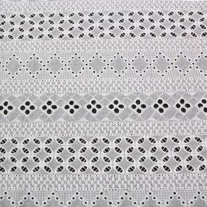 2017 Spring New Design Cotton Embroidery Lace Fabric