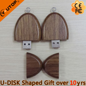 Hot Oval Walnut Wood USB Flash Drive Promotion Gift (YT-8119) pictures & photos