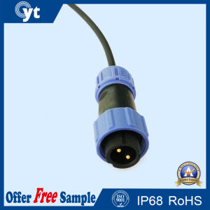 2-Pin Male LED Outdoor Lighting Waterproof Wire LED Connector pictures & photos