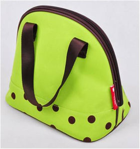 Wholesale 300d Oxford Green Spot Insulated Ice Cooler Bags pictures & photos