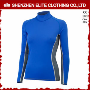 OEM Service Women Long Sleeve Blue Rashguards UV (ELTRGI-41) pictures & photos