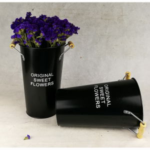 Black Tin Galvanized Round Garden Pot Flower Pot pictures & photos