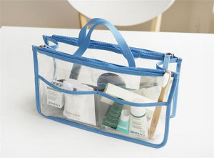 New Designed Portable Double Zipper PVC Cosmetic Bag (80029) pictures & photos